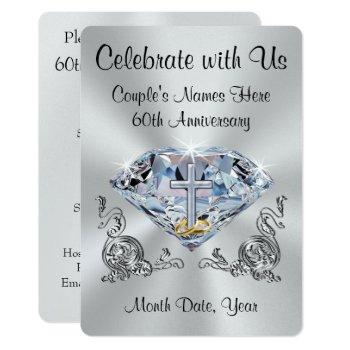 christian 60th anniversary invitations personalize