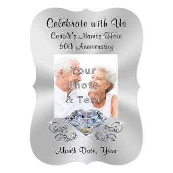 christian 60th wedding anniversary invitations