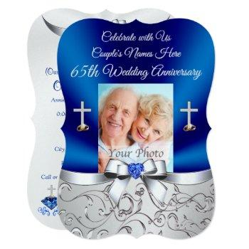 christian 65th wedding anniversary invitations