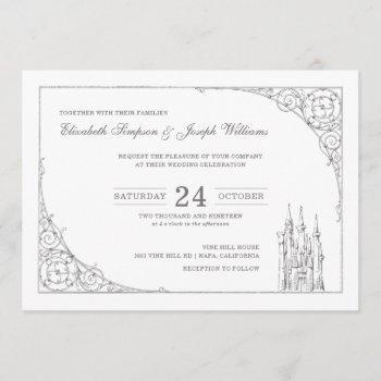cinderella castle | fairytale wedding invitation