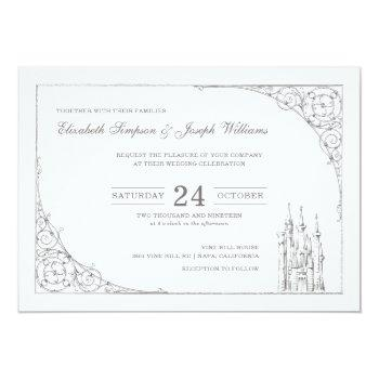 cinderella castle | fairytale wedding invitation
