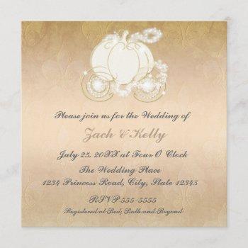 cinderella princess carriage wedding invitation