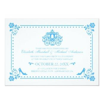 cinderella wedding | carriage & flowers invitation