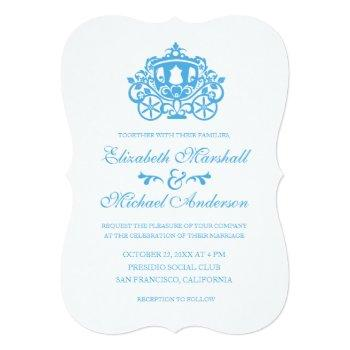 cinderella wedding | carriage invitation