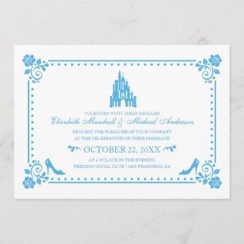 cinderella wedding | castle & flowers invitation