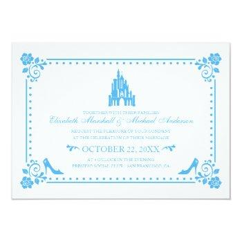 cinderella wedding | castle & flowers invitation