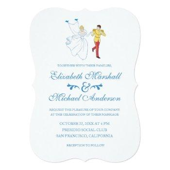 cinderella wedding | cinderella & prince charming invitation