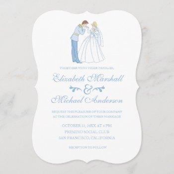 cinderella wedding | classic invitation