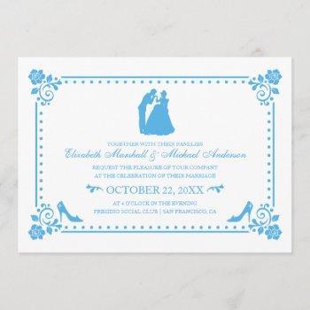 cinderella wedding | silhouette & flowers invite