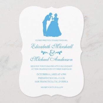 cinderella wedding | silhouette invitation
