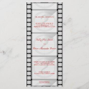 "cinema ""ticket"" invitation/menu card"
