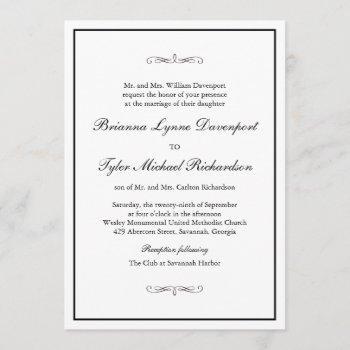 classic simple elegance wedding invitation