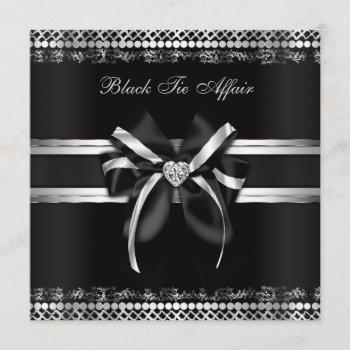 classy black and silver invite
