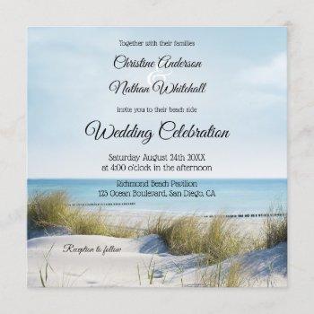 coastal beach or destination wedding invitation