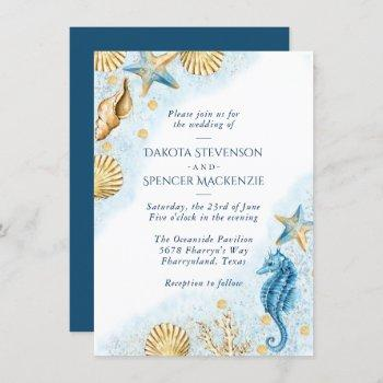 coastal chic | modern nautical wedding invitation