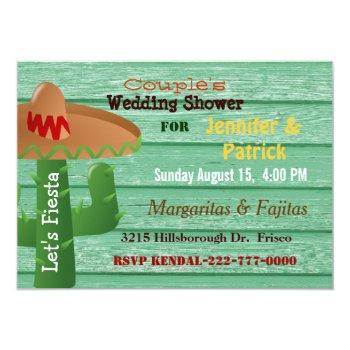 colorful mexican fiesta couple's wedding shower invitation