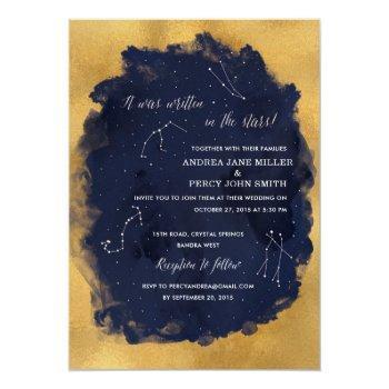 constellation star celestial wedding invitation