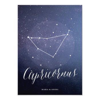 constellation star table number capricornus