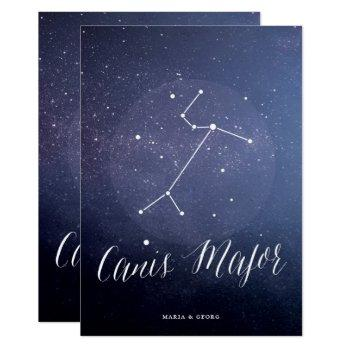 constellation starry night celestial table card