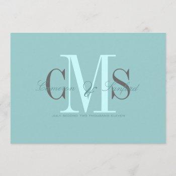 contemporary + classy monogram wedding invitations