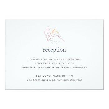 Small Coral Reef Reception Card Front View
