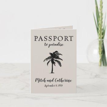 costa rica manuel antonio passport wedding invitation