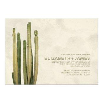 country cactus wedding invitations
