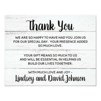 country love western rustic thank you note invitation