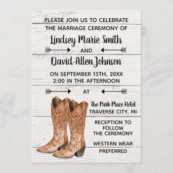 country love western rustic wedding invitation