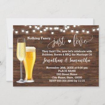 country nothing fancy just love elopement invite