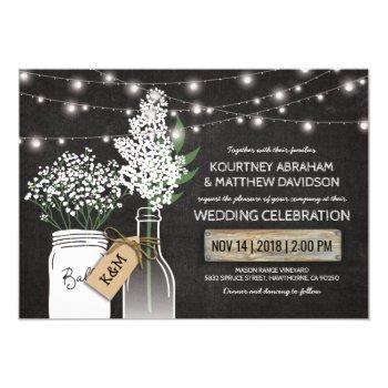 country rustic chalkboard wood wedding invitation