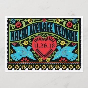 custom lovebirds papel picado banner invitation