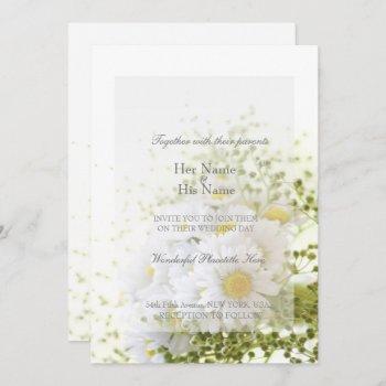 daisies in love- editable wedding bouquet invitation