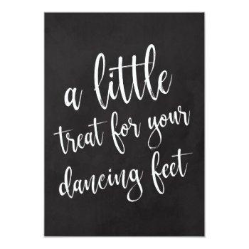 dancing shoes affordable chalkboard wedding sign invitation