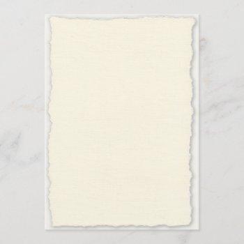 deckled edge paper wedding invitation template