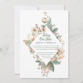 delay our date   corona virus delay   wedding card