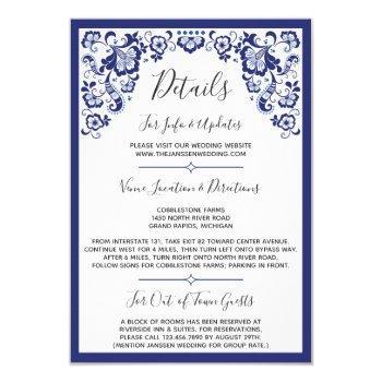 delfts blauw | delft blue dutch wedding details invitation