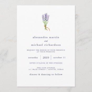 delicate french lavender wedding invitation