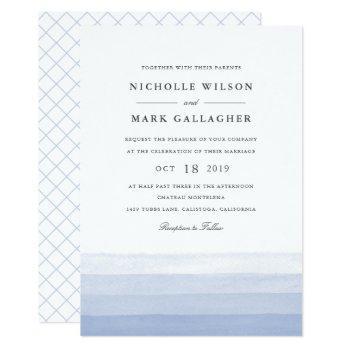 dip dye watercolor wedding invitation | amethyst