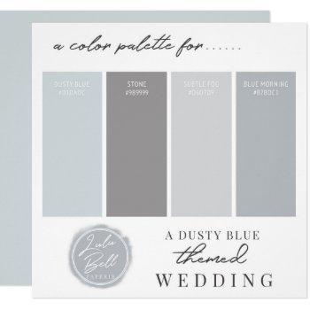 dusty blue & gray color combination palette card