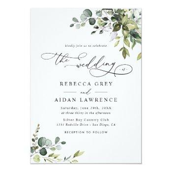 Small Dusty Blue Green Eucalyptus Greenery Wedding Front View