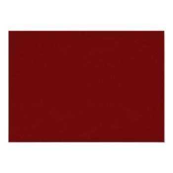 Small Elegant Floral | Burgundy Marsala Red Engagement Invitation Back View