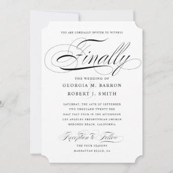 elegant gay wedding invitation finally calligraphy