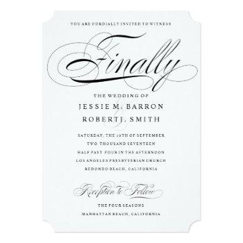 elegant gay wedding invitation finally calligraphy