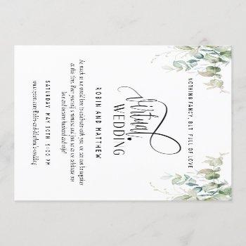 elegant greenery, online virtual wedding invitation