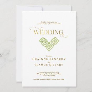 elegant irish celtic knot all in one wedding invitation