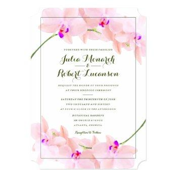 elegant orchid wedding invitation