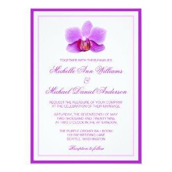 elegant purple orchid wedding invitations