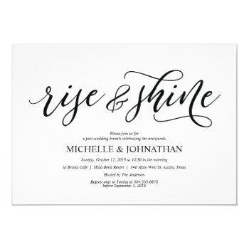elegant rustic post wedding brunch invitation card