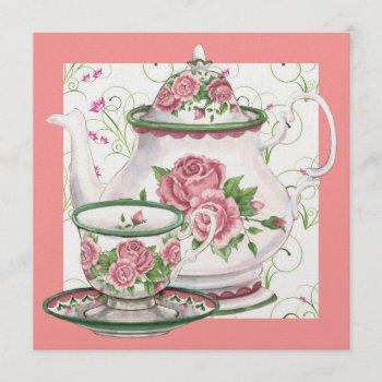 elegant tea party - srf invitation